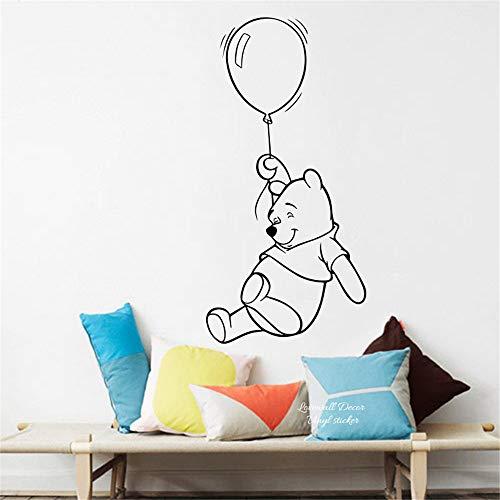 Winnie l'ourson Wall Decal Cartoon Winnie l'ourson ballon à air chaud bébé pépinière mignonne ours animation animale décalque facile mur Art Mural