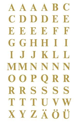 AVERY Zweckform 3727 Buchstaben Etiketten (A-Z 7,5mm, Folie, starker Halt) 120 Aufkleber