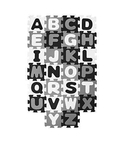 Bieco Puzzlematte, 52 TLG. | Spielmatte Baby | XXL Puzzle Kinder | Krabbeldecke Baby Spielmatte Kinder| Turnmatte Kinder | Kinder Teppiche | Krabbelmatte Baby | Buchstaben Lernen | Spielteppich Junge