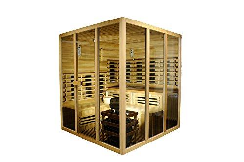 """Sauna und Infrarotkabine\""""Sidney\"""", rotes Zedernholz, Wärmekabine, Sauna, Infrarotsauna, Infrarotwärmekabine"""
