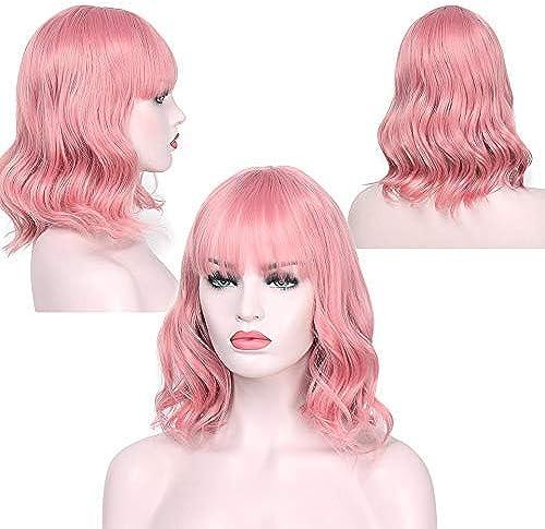 descuento Yo soy una peluca peluca sintética mujer mujer mujer peluca corta pelo Aisi 12 'largo Ondas de agua Pelo falso  tienda