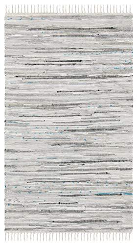 Safavieh Rag Rug Collection RAR121A Hand Woven Grey Cotton Area Rug (2' x 3')