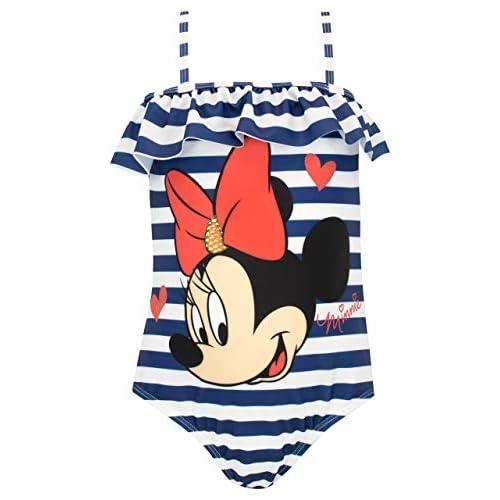 Disney Costume da bagno Minnie Mouse per bimba 3-4 anni Blu