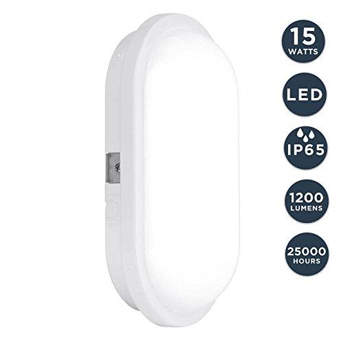 Ovale ledlamp, kelderlamp, plafondlamp, wandlamp, binnenverlichting, toilet, badkamer, buitenverlichting, tuinhuis, veranda, werkplaats, terras