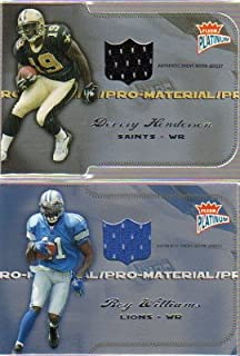 2004 Fleer Platinum Pro Material Jerseys Die Cut #PMDH3 Devery Henderson Game-Worn Jersey Card Serial #'d/99