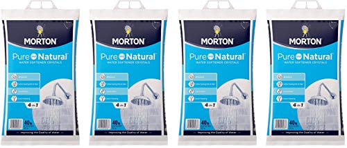 Morton U26624S Pure AND Natural Water Softening Crystals, 40-Pound (Fоur Paсk)