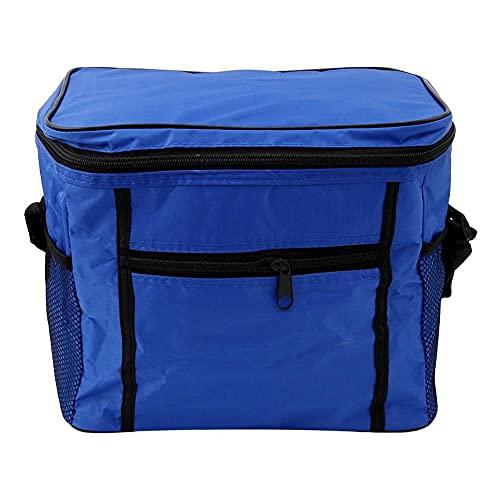 Tuimiyisou La Comida de Entrega de comestibles Bolsas portátiles a Prueba de Agua Extra Grande o Caliente o fría la Comida Fondo Reforzado de Grupo Azul