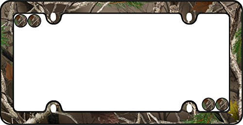 Cruiser Accessories 23095 Camo License Plate Frame, Black w/Fastener caps