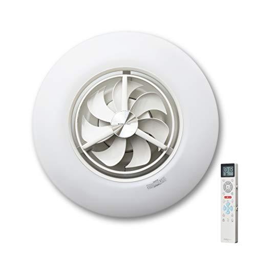 ルミナス LED シーリングサーキュレーター スイング機能付き 12畳 調光調色タイプ 光拡散レンズ搭載 シンプルリモコン付き DCC-SW12CM