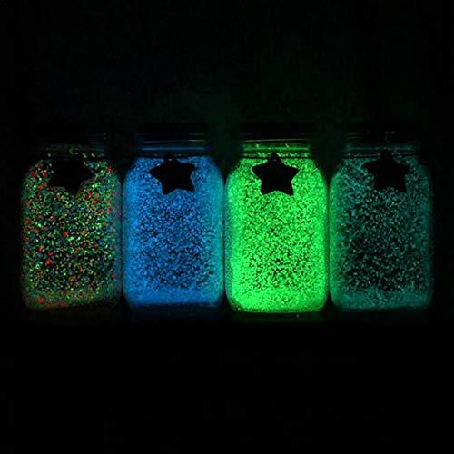 Glanzend in helder zand, pailletten en microparels voor 10 g/zakje decoreren het licht in het donker, mooi zand, fluorescerend, de wens van een fles oranje geel.