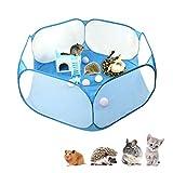 Sokey Laufstall für Kleintiere, faltbar, mit Stofftasche, atmungsaktiv und transparent, für den Innenbereich, für Hamster, Meerschweinchen, Kaninchen, Outdoor-Portab