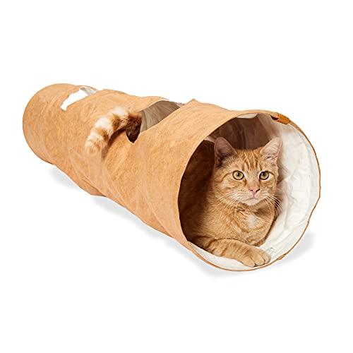 PiuPet® Tunnel per Gatti - Tunnel da Gioco per Gatti - Giochi per Gatti - Tunnel Giocattolo per Gatti