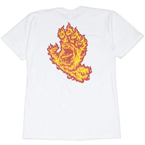 サンタクルーズ SANTA CRUZ FLAME HAND TEE(WHITE) (XL)