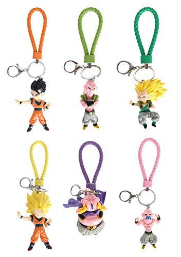 Dragon B. Juego de 6 llaveros grandes de PVC de Son Goku,...