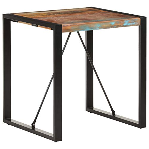 Dining Table, Coffee Table Kitchen Table Bistro Table Dining Table 70x70x75 cm Solid Reclaimed Wood