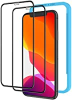2枚セット NIMASO ガラスフィルム iPhone 11 / XR 用 全面保護 フィルム フルカバー ガイド枠付き