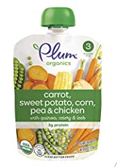 Pack of twelve, 4 ounce (Total of 48 ounces) 3 grams of protein Certified organic Non BPA packaging & child safe, recyclable cap Convenient, re sealable & portable pouch for on the go feeding Convenient, re sealable & portable pouch for on the go fee...