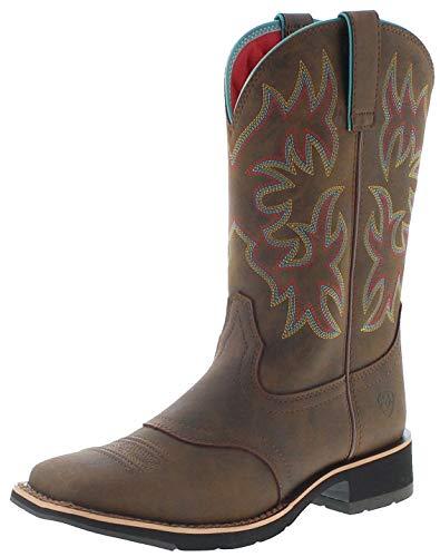 Ariat Damen Cowboy Stiefel 18676 Delilah Westernreitstiefel Lederstiefel Braun 38.5 EU