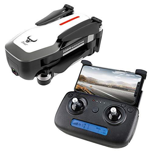 GPS-Drohne mit Kamera-HD 4k, 1080P 5G WiFi FPV Getriebe Drohne für Erwachsene, Anfänger, Auto-Return, Follow Me, Orbit-Modus, Altitude Hold