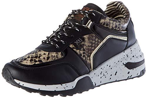 XTI Damen 44599 Sneaker, Schwarz, 38 EU