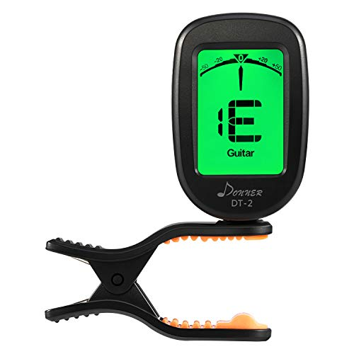 Donner Guitar Tuner Clip on-Accurate Chromatic,Acoustic Guitar Bass Violin Ukulele Tuner DT-2
