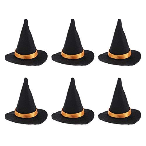 Amosfun 6pcs Halloween Weinflasche Stopper Mini Hexe Hüte Flasche Abdeckung Dekor Parteibevorzugung
