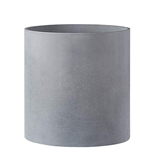 FaithLand Plant Pot 12 inch - Perfectly Fits Mid-Century Modern Plant Stand - Drainage Plug - Gray Planter Pot