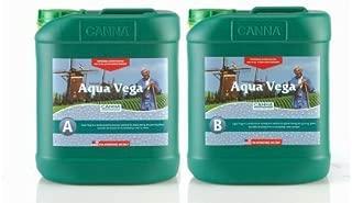 CANNA 5 Liter - Aqua Vega - Part A and B - Veg Nutrient - Developed for Recirculating Systems 9520005