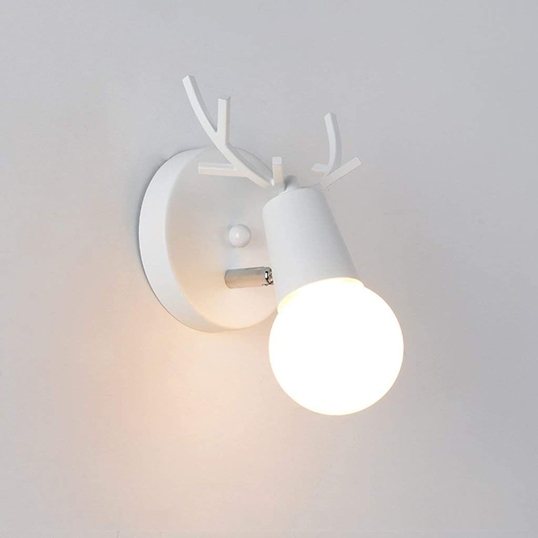 HhGold Moderne Wandleuchten, einfache kreative Persnlichkeit der Wandleuchte für die Dekoration Style Lounge Korridor Beleuchtung Walk (Farbe Blau) (Farbe   Wei)