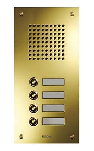 Elcom UP-Türstation TMG-1/1 1Taster,PVD-Messing ESTA Klingeltableau für Türkommunikation 4250111845182