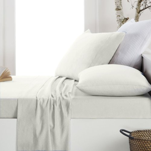 Just Contempo Drap-Housse, Coton, Blanc, Pillow Cases