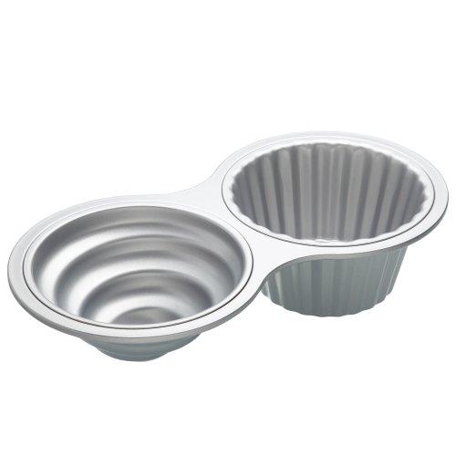 SWEETLY DOES IT Antihaft-Cupcake-Backform 40x20x9,5cm in Silber, Aluminium, 12 x 17 x 22 cm