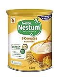 Nestlé Papillas NESTUM - Cereales para bebé, 8 cereales con miel - 3 x 650 g -Total: 1.95 kg