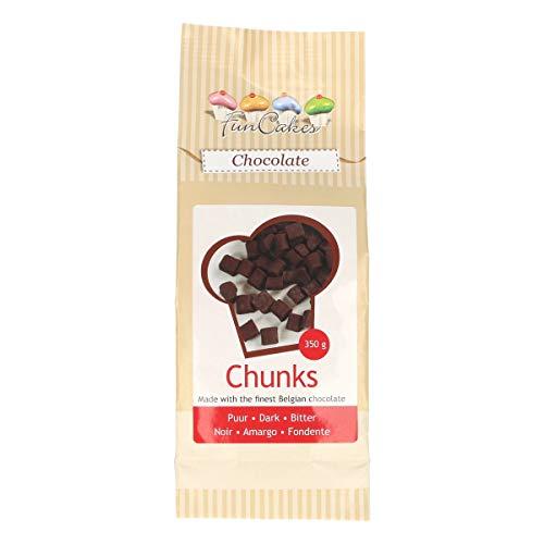 FunCakes Chocolade Chunks Puur, Heerlijke Bakvaste Chocolade om Toe te Voegen aan Taarten, Cupcakes, Muffins of Koekjes…