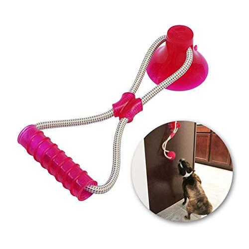 Piore multifunctioneel huisdier molair hondenspeelgoed rubber kauwbal schoonmaken tanden veilige elasticiteit zachte puppy zuignap bijthond speelgoed, V2 Rose