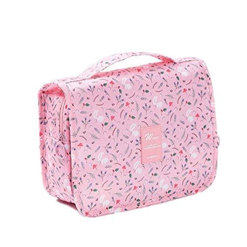 Trousse de Toilette Trousse de Maquillage Voyage Cosmétique Sac Pinceaux de Maquillage Sac Cosmétique Pochettes pour Les Femmes Pink