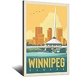RQSY Vintage-Reise-Poster Kanada Winnipeg, Leinwand-Kunst,