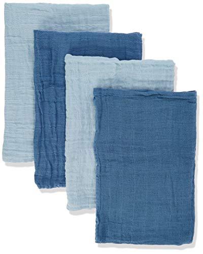 Pippi Unisex Baby 4er Pack Windeln für Spucktücher, Kuscheltücher oder Windeltücher geeignet Badebekleidungsset, Blau (Baby Blue 732), (Herstellergröße:65x65)