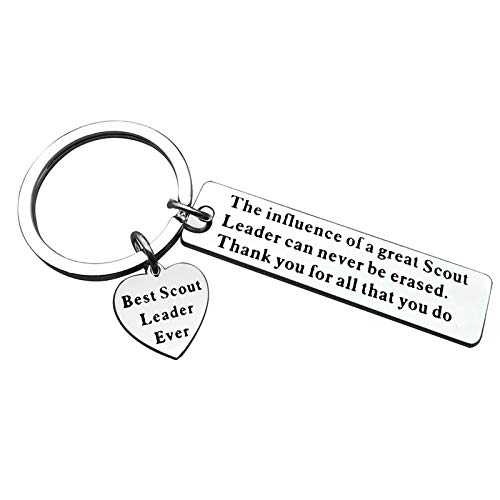 Scout Leader Keyring Gifts for Boys Girls Scout Keychain Gifts Troop Leader...