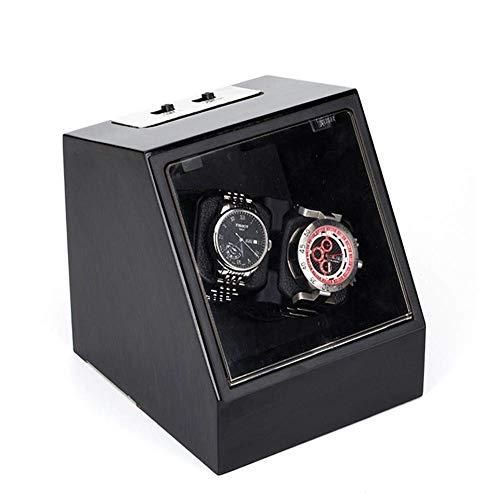 GUOOK GUOOK Automatik Uhrenbeweger Doppeluhren PU Leder 2 Netzteil Modus Armbanduhrenbeweger Rotator Deluxe Silent Motor-17 & Times; 15.4 & Times; 18.5CM