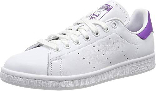adidas Stan Smith W, Scarpe da Ginnastica Donna, Bianco (Ftwr White/Active Purple/Ftwr White Ftwr White/Active Purple/Ftwr White), 40 EU