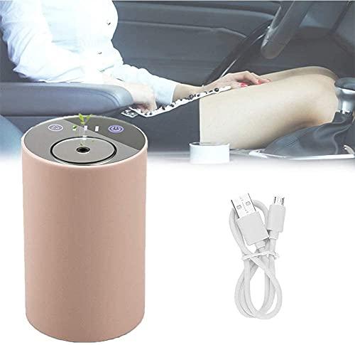 NFRMJMR USB Aroma ricaricabile Olio essenziale nebulizzante diffusore senza calore, diffusore auto con umidificatore di nebbia fresca e silenziosa portatile per soggiorno, camera da letto, auto, rosso