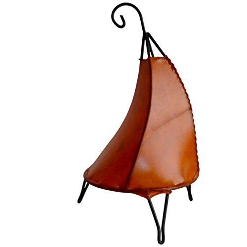 Orientalische Lampe Stehlampe marokkanische Hennalampe Lederlampe Tischleuchte Stehleuchte Orient Tissir einfarbig 40 Color Orange