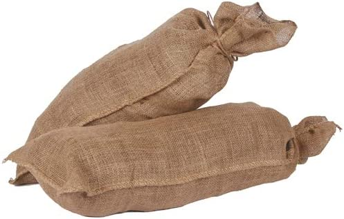 Pack of 10 Hessian Jute Sandbags with String Tie Rot-Proof Flood Protection Sacks 330 x 750mm Bio-degradable /& Environmentally Friendly Unfilled