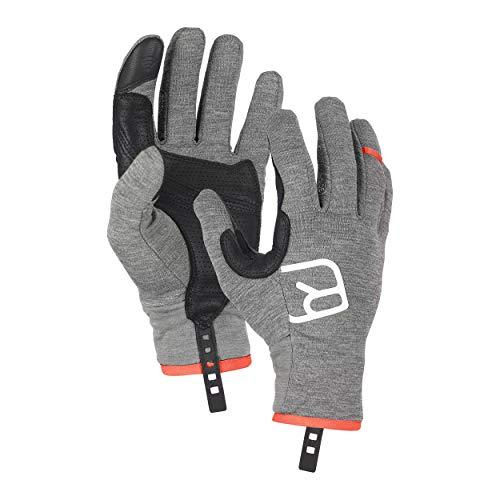 ORTOVOX Mens Fleece Light Glove Liners, Dark Grey Blend, XL