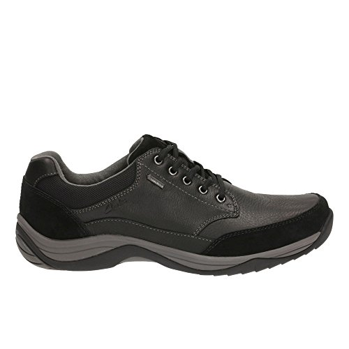 Clarks Herren BaystoneGo GTX Brogues, Schwarz (Black Leather), 43 EU