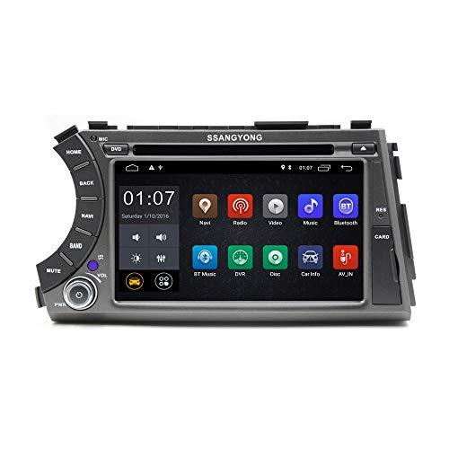 1024 x 600 2 Din Quad Core 7 pulgadas Android 10 Car DVD GPS Navegación para SsangYong Kyron Actyon 2006 a 2012 unidad principal radio estéreo del coche