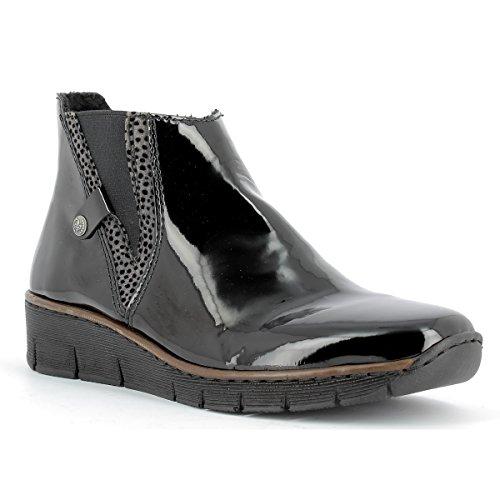 RIEKER - Chaussures montantes femme RIEKER - 73771-00 - Bottes / Bottines - Schwarz - 40