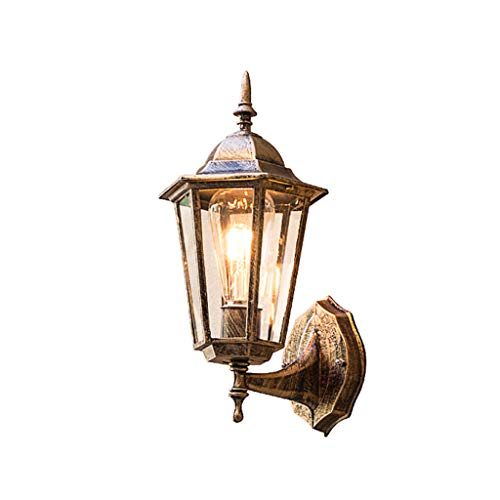 BUYAOBIAOXL Lámpara de Pared Wall Lamp Lámparas de Pared, Interior Lámpara Pared Metal,Dormitorio, Cocina, Restaurante, Café, Pasillo Apliques Pared (Color : Ancient Brass)