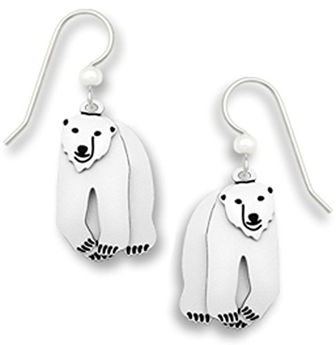 White Polar Bear Earrings with Movement Made in the USA by Sienna Sky 1668
